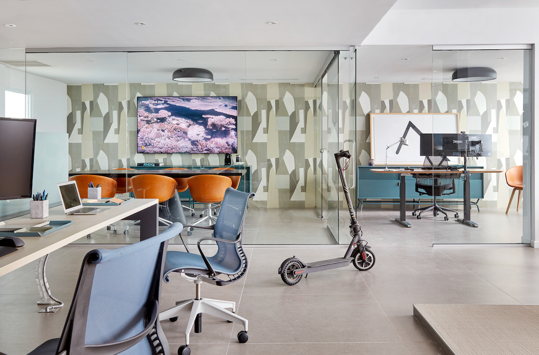 office-commercial-interior-design-electric-scooter-rolling-chairs